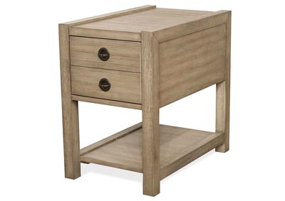 Perspectives Beige Chairside Table