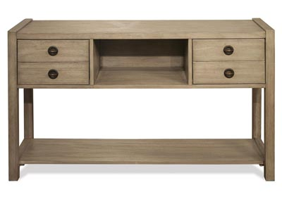 Perspectives Beige Hall Console Table