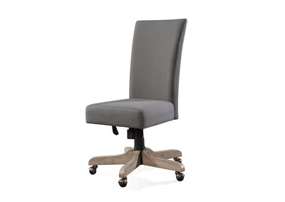 Perspectives Beige Upholstered Desk Chair