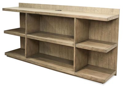 Perspectives Beige Peninsula Bookcase
