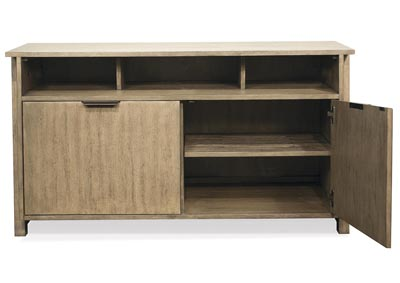 Perspectives Beige Entertainment Console