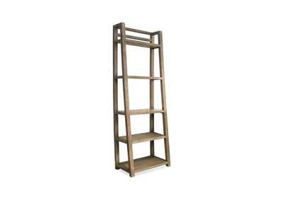 Perspectives Beige Leaning Bookcase