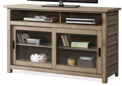 Perspectives Beige 54 Inch TV Console