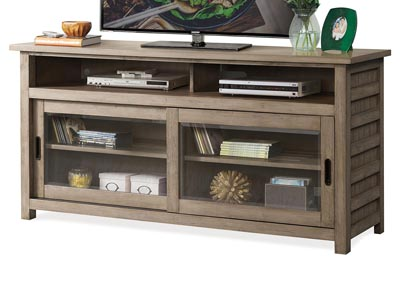 Perspectives Beige 64 Inch TV Console