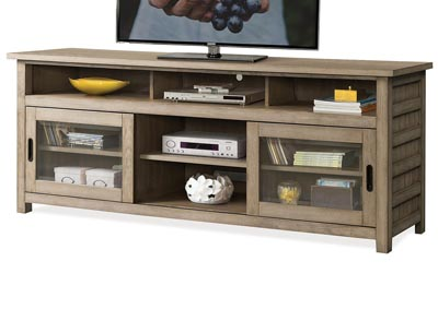 Perspectives Beige 74 Inch TV Console