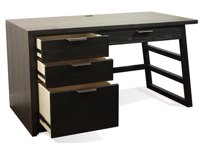 Perspectives Black Single Pedestal Writing Desk