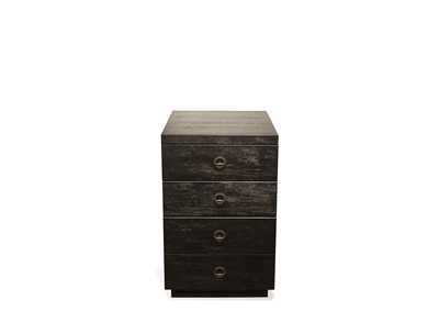 Perspectives Black Mobile File Cabinet