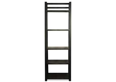 Perspectives Black Leaning Bookcase
