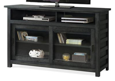 Perspectives Black 54 Inch TV Console