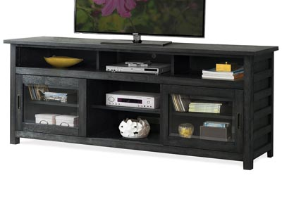 Perspectives Black 74 Inch TV Console