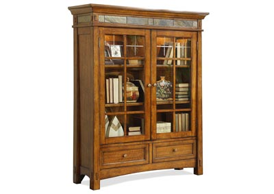 Craftsman Home Oak Door Bookcase