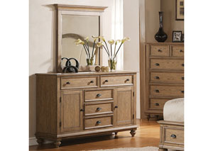 Coventry Weathered Driftwood Panel Door Dresser