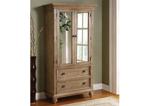 Coventry Weathered Driftwood Armoire