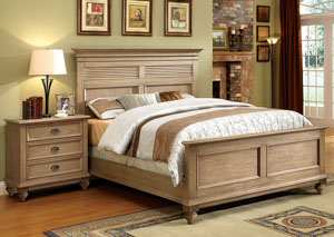 Coventry Weathered Driftwood Full Panel Bed