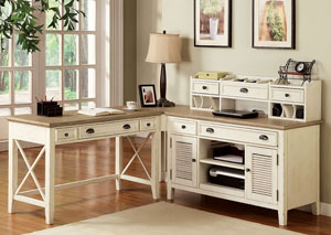 Coventry Two Tone Weathered Driftwood/Dover White Corner Unit