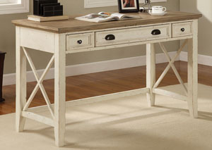 Coventry Two Tone Weathered Driftwood/Dover White Writing Desk