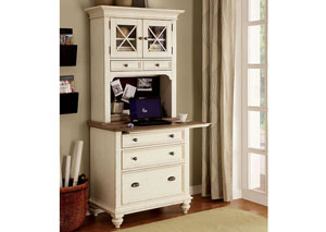 Coventry Two Tone Weathered Driftwood/Dover White Personal Workstation Base