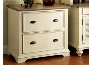 Coventry Two Tone Weathered Driftwood/Dover White Lateral File Cabinet