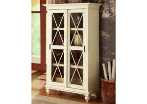 Coventry Two Tone Weathered Driftwood/Dover White Sliding Door Bookcase
