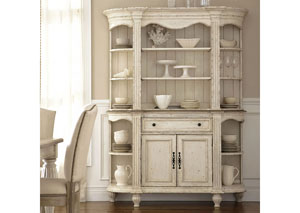 Coventry Two Tone Weathered Driftwood/Dover White Server w/Hutch