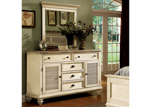 Coventry Two Tone Dover White Dresser w/Mirror