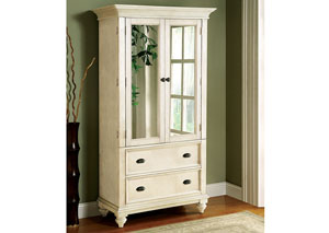 Coventry Two Tone Dover White Armoire