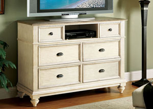 Coventry Two Tone Weathered Driftwood/Dover White Entertainment Chest