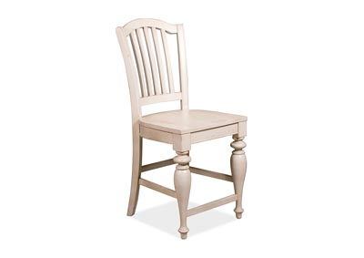 Mix-N-Match Chairs Dover White Counter Height Wooden Chairs (2 per Set)