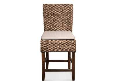 Mix-N-Match Chairs Hazelnut Woven Counter Stool (2 per Set)