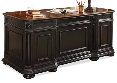 Allegro Burnished Cherry/Rubbed Black Executive Desk