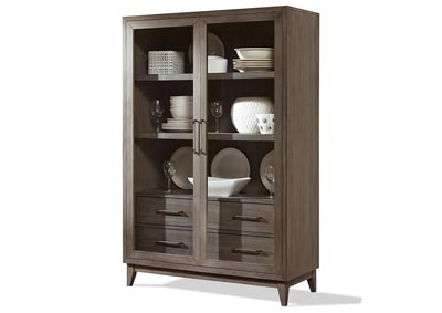 Vogue Gray Wash Display Cabinet