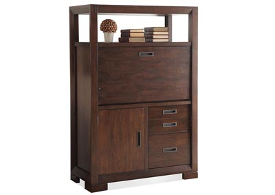 Riata Warm Walnut Computer Armoire