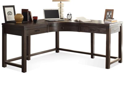 Promenade Warm Cocoa Curved Corner Desk