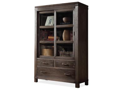 Promenade Warm Cocoa Sliding Door Bookcase
