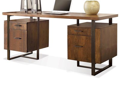 Terra Vista Walnut Double Pedestal Desk