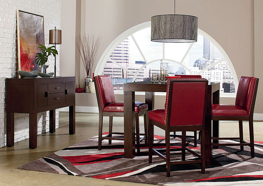 Charmant ... Red Counter Height Chairs. Couture Elegance 42