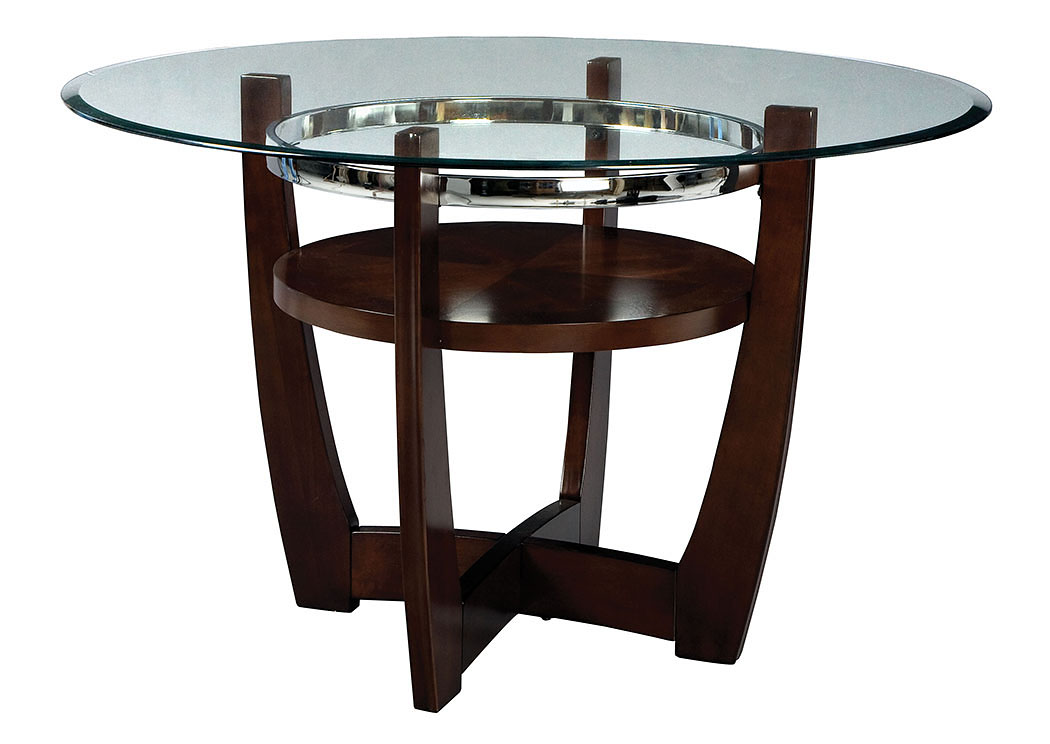 V  Watts Furniture Apollo Beveled Glass Dining Table