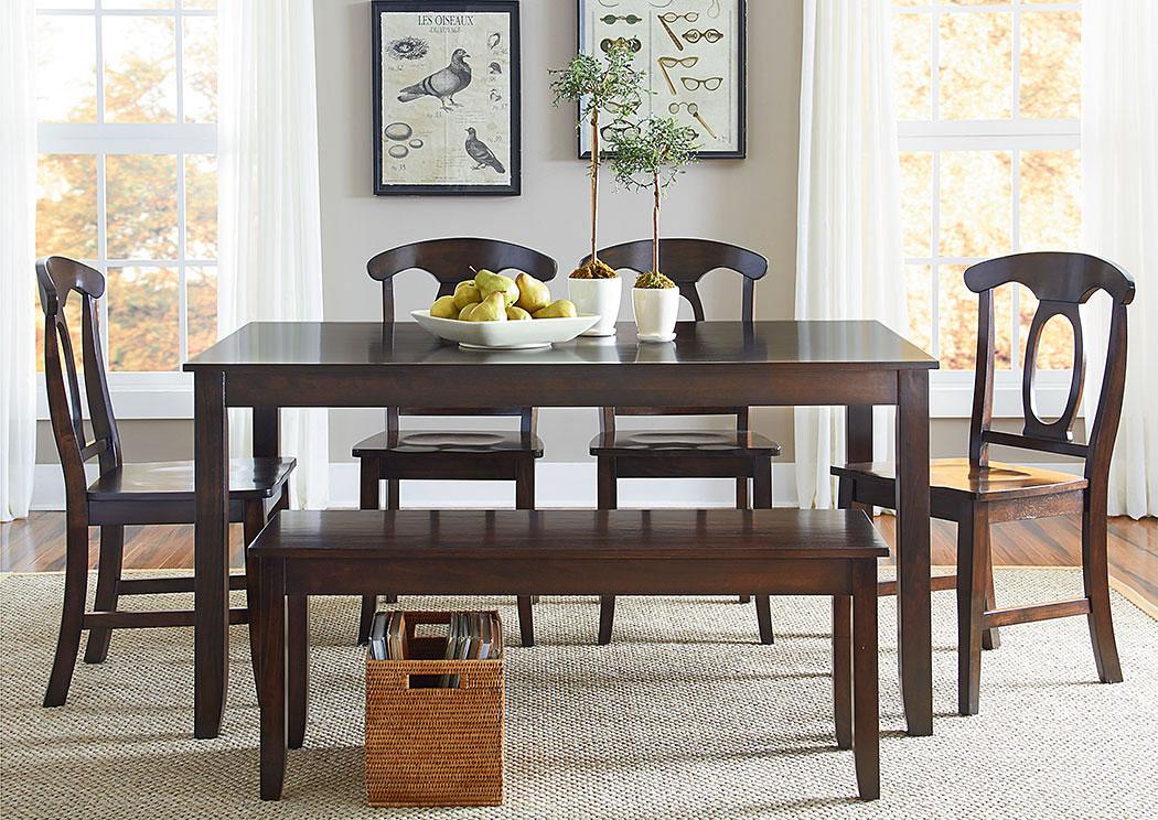 Peachy Amite City Furniture Amite La Larkin Dining Table W Bench Bralicious Painted Fabric Chair Ideas Braliciousco