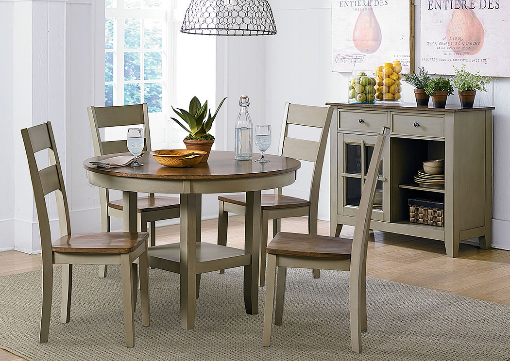 Pendleton Sage Dining Table w/4 Side Chairs,Standard