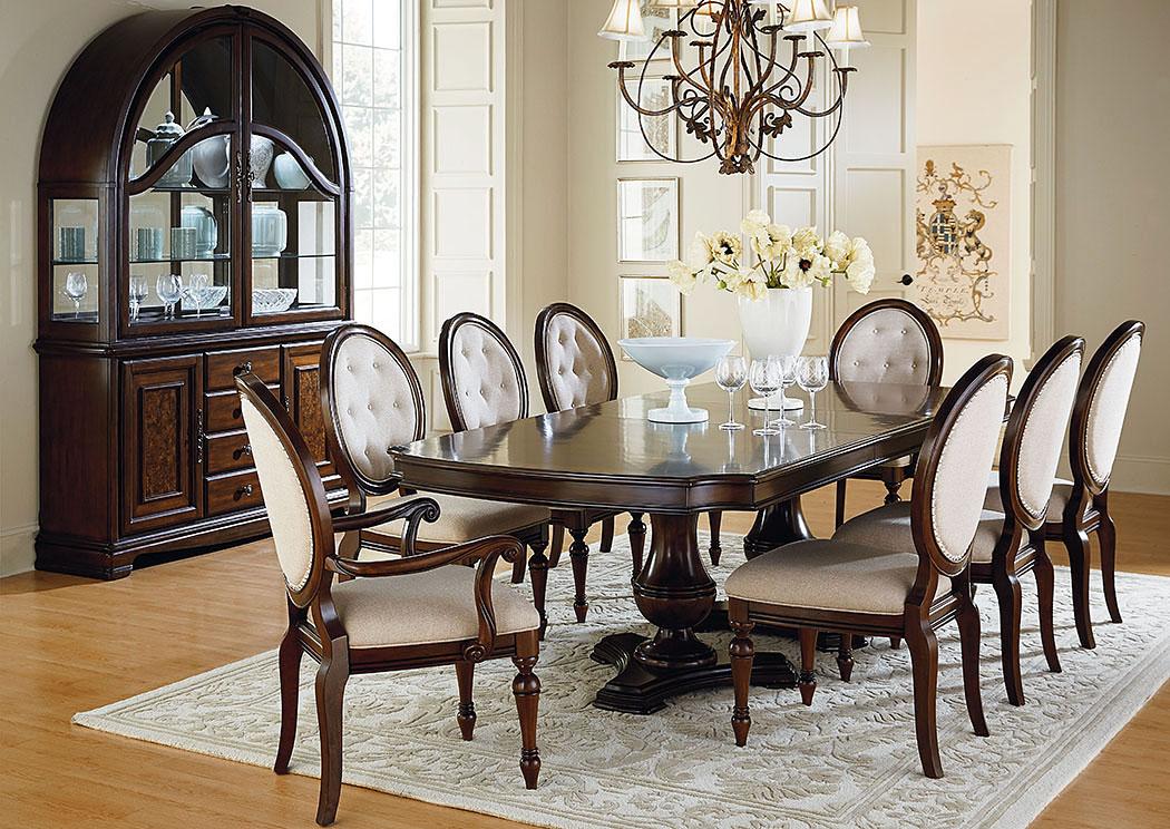 V. Watts Furniture Carrington Double Pedestal Dining Room ...