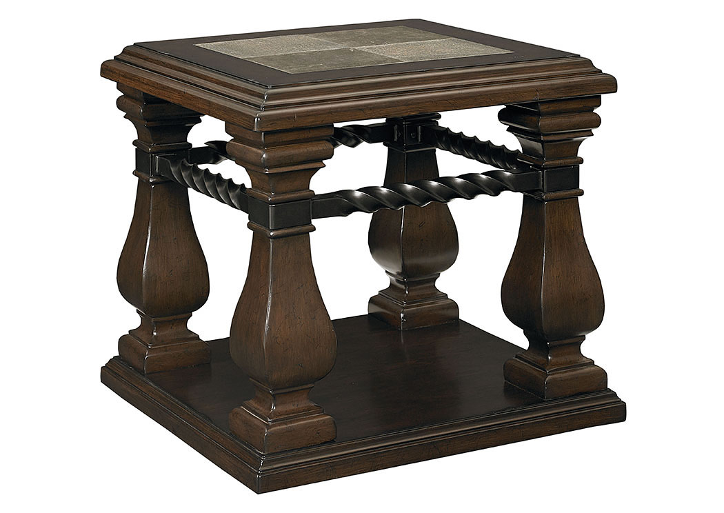 San Moreno Aged Whiskey Brown End Table,Standard