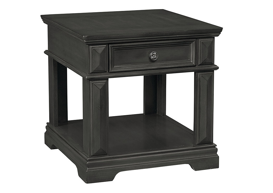 Garrison Burnished Gray End Table w/Drawer,Standard