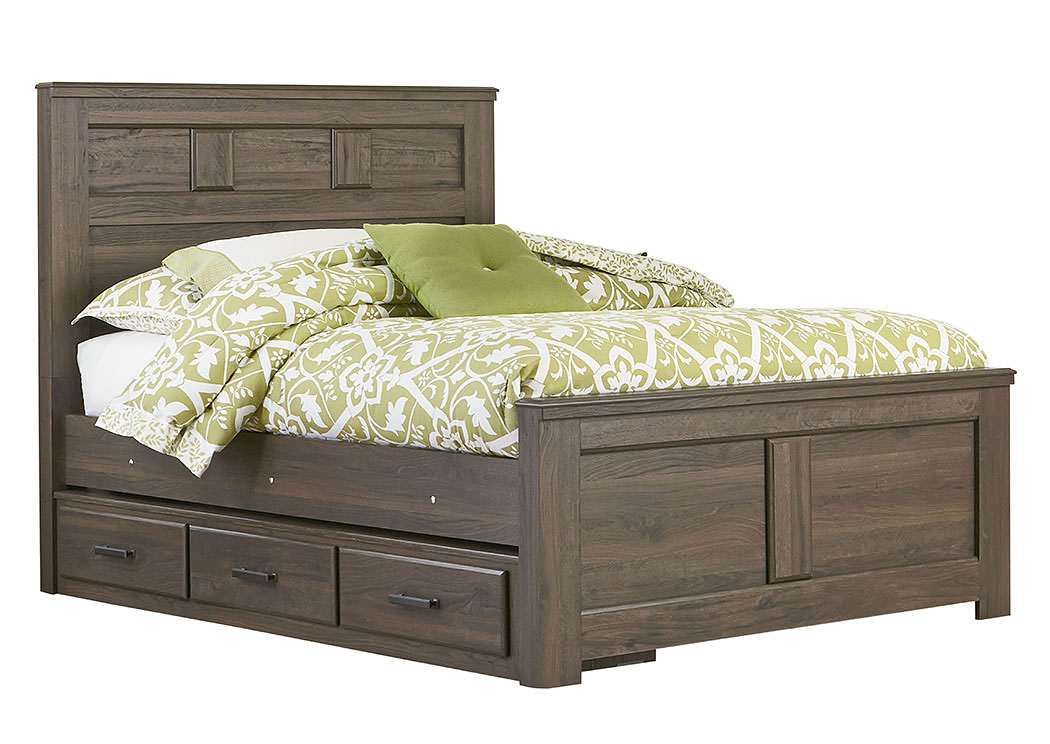 Hayward Brown Weathered Oak Twin Storage/Panel Bed,Standard