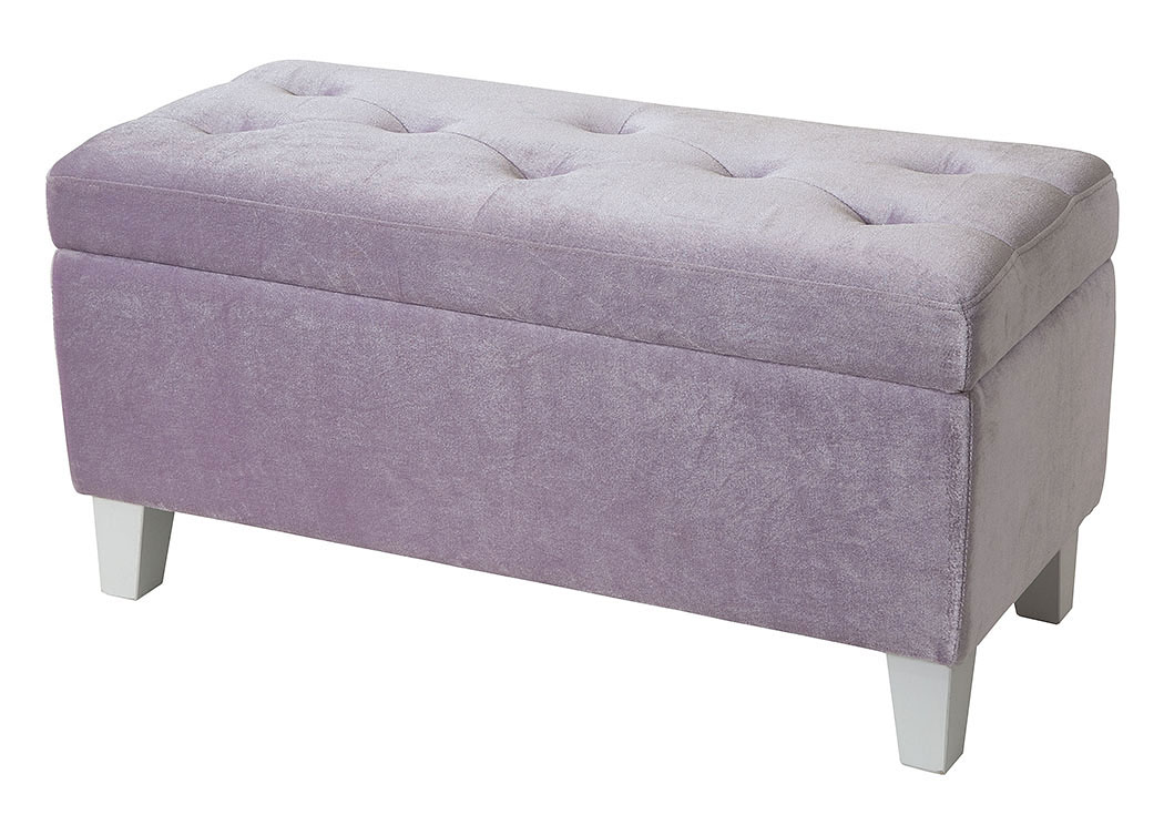 Young Parisian Lavender Storage Bench,Standard