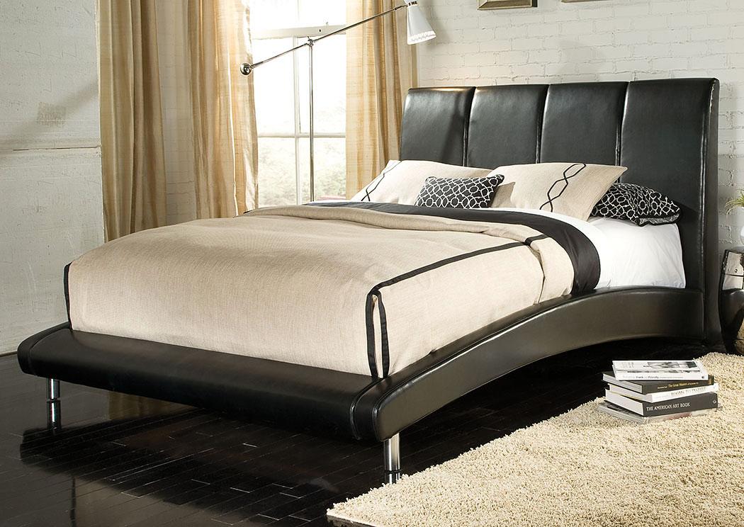Fresh Moderno Black Upholstered King Platform Bed Standard Ideas - Popular king platform bed no headboard Luxury