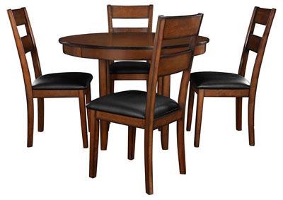 Pendwood Brown Dining Table w/4 Side Chair