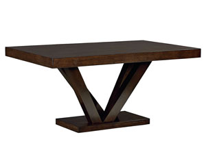 Couture Elegance Dark Chocolate Pedestal Dining Table