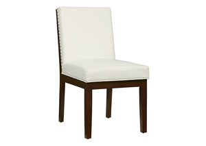 Couture Elegance White Upholstered Side Chair (Set of 2)