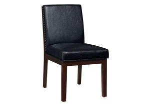 Couture Elegance Black Upholstered Side Chair (Set of 2)