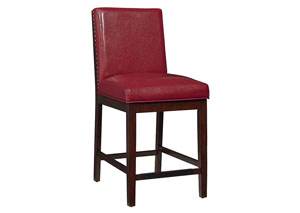 Couture Elegance Red Counter Chair (Set of 2)